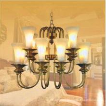 Iluminación colgante tradicional de las velas de cristal del diseño elegante