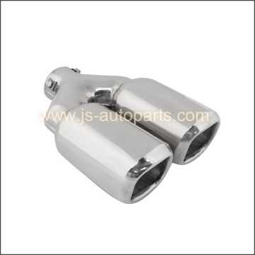 INLET 2.375 OUTLET 3.5X3.25 DUAL STRAIGHT CUT W RESONATED BOLT ON  EXHAUST TIP