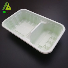 microwable container with two separate compartments
