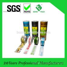 Cintas de embalaje impresas con logotipos (ISO9001, SGS, BV)
