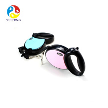 Flexible Pink / Blue Retractable Dog Leash (Cord)