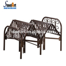 Saving sapce hotel use wall single folding metal bed