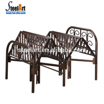 Saving sapce hotel use wall single folding metal bed