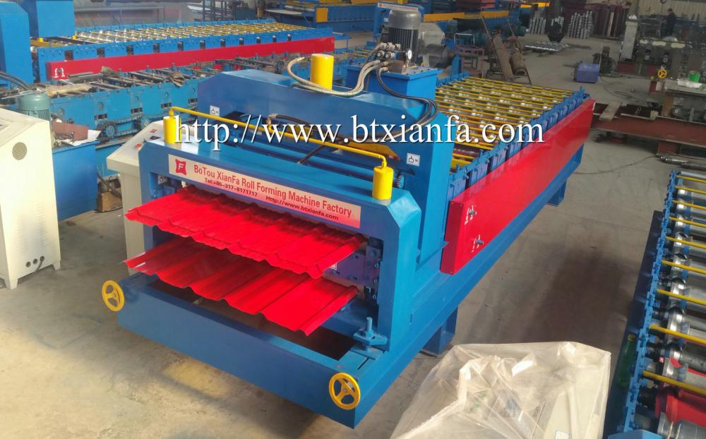 Double Deck Tile Roof Making Machine