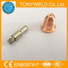 plasma cutting consumable nozzle and electrode S45