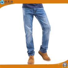 Pantalones vaqueros ocasionales baratos de la fábrica Denim Jeans Hot Hombre
