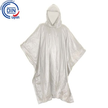 Eco amigable Bio Degradable PLA Rain Poncho