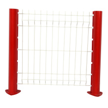 PVC coated galvanized 3d triangle bending 8 gauge welded wire mesh fence