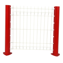 Galvanized then powder coated Triangle Bending Wire 3D fence panel