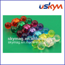 The Half-Transparent Color Plastic Push Pin Magnet