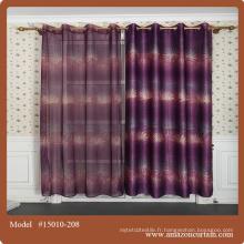 Le design de rideau le plus récent de 2015 pour les tissus d'ameublement fabriqués en Chine