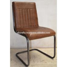 Chaise de cuir vintage rétro vintage