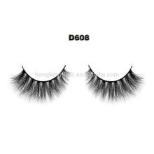 Schwarz 1 Paar Falsche Wimpern 100% Menschliches Haar Streifen Lash Gefälschte Wimpern
