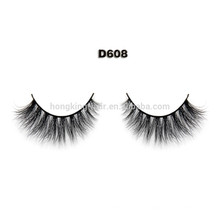 Black 1 Pair False Eyelashes 100% Human Hair Strip Lash Fake Eye Lashes