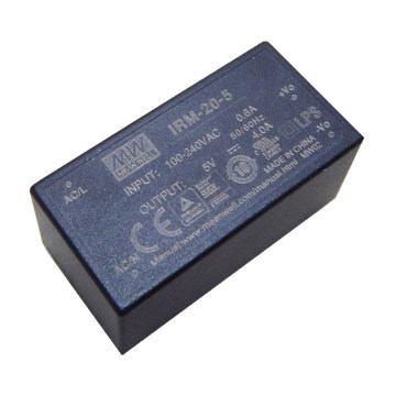 MEANWELL 1w to 60watt encapsulated type open frame ac/dc power module 5vdc 4a IRM-20-5