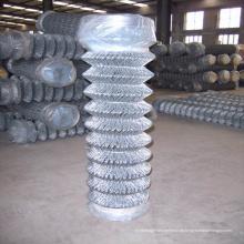 Cerca de elo de corrente revestida de PVC tipo farpado