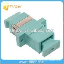 Aqua SC Fiber Optic Adapter