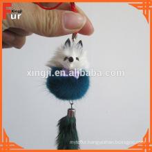 Fur Accessory Mink Fur Keychain