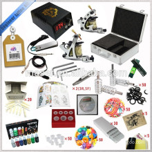 Starter Tattoo Kits with Tattoo Machine and Power Unit and Clip Cord