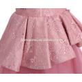 Новая Конструкция Много Слоев Юбки Розового Цвета Вышитое Платье Девушки Цветка Тюль Платье