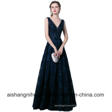 Women Banquet Long Lace Floor-Length Elegant Party Prom Dress