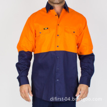 High Visibility Long Sleeve Cotton Workwear (without reflective tape)