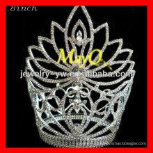 Flor de alta calidad cinderella coronas joyería desfile coronas al por mayor accesorios para el cabello