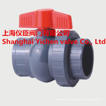 Handle PVC Ball Valve PVC Double True Union Ball Valve
