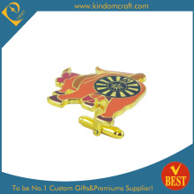 2015 Hotsale Enamel Glod Plating Cufflinks for Souvenir