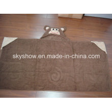 Children′s Hooded Towel with Animal Head (SST0307)