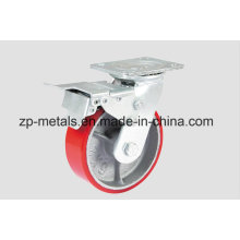 Heavy-Duty Aluminum PU with Whole Side Caster Wheel