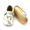 Fresh Lemon Pattern Moccasins Soft Baby Shoes