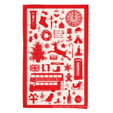 toalla de té roja de la cocina de la Navidad de la altura Hight TT-037