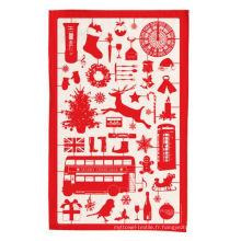 serviette de torchon de cuisine rouge de haute qualité de Noël TT-037