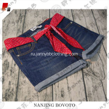 Tear resistance red belt girls  jeans