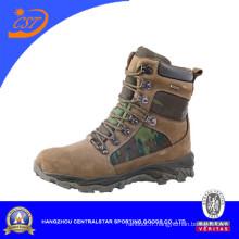 Bottes militaires en cuir camouflage pour hommes