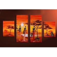 Nacktes afrikanisches Frauen-Segeltuch-Kunst-Ölgemälde (AR-143)