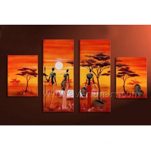 Nude African Women Canvas Art Oil Painting (AR-143)