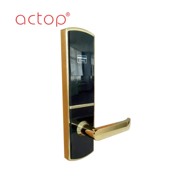 Fechadura da porta do hotel high-end de ouro