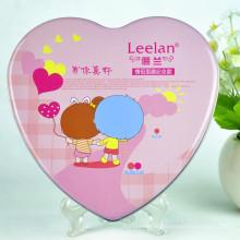 Forma de coração extravagante Caixa de lata de chocolate Caixa de embalagem de chocolate com forma de coração