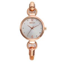 2017 latest rose gold bracelet watch for girls