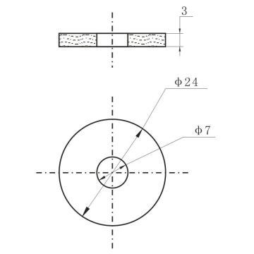 Керамические пьезоэлектрические кольца высокой мощности OD24xID7x3mm