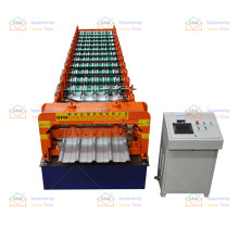 Factory price steel ibr and corrugated roofing roll panel forming machine lines for india