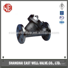 Flanged end strainer