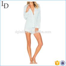 Pyjamas en soie satin pyjamas imprimé doux pyjamas pour vrac