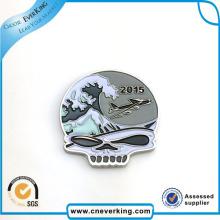 Design de moda Bandeira Dupla Emblemas Bandeira Patches Lapela Pin