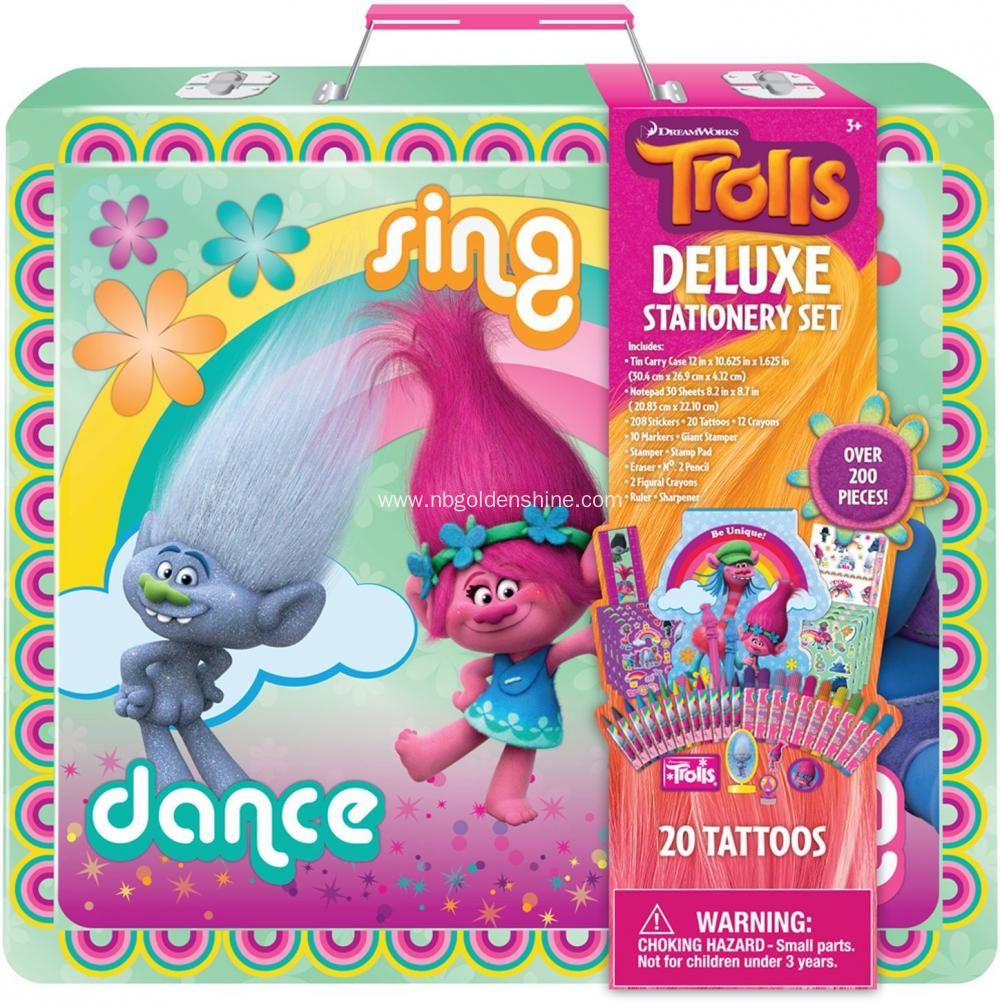 Trolls Metal Carry Box Deluxe Stationery Gift