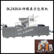 Dlz-460 Full Automatic Continuous Stretch Cooled Food Vacuum Packaging Machine