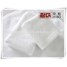 Toalla de cara blanca suave de alta calidad del algodón del 100% para el uso del hotel