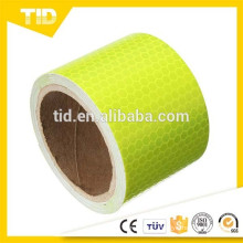 Reflective Safety Warning tape, fluorescent yellow green, honey comb